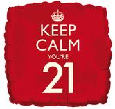 keep calm 21st balloon
