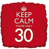 keep calm 30th balloon