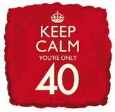 keep calm 40th balloon
