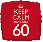 keep calm 60th balloon