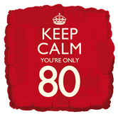 keep calm 80th balloon