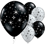 Latex Balloons 11'' Sparkles and Swirls (5pk)