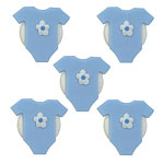 Cake Decorations - Sugar Toppers - Blue Babygrows (5pk)