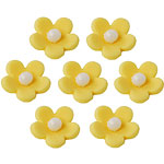 Cake Decorations - Sugar Toppers - Yellow Blossom (7pk)