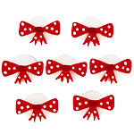 Cake Decorations - Sugar Toppers - Red Dotty Sugar Bows (5pk)