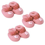 Cake Decorations - Sugar Toppers - Pink Booties (6pk)
