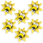 Cake Decorations - Sugar Toppers - Bumblebees (5pk)