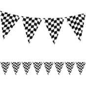 Racing Party Themed flag banners, great cheap way of decorating a racing party