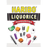 Haribo Liquorice Favourites Bag of Sweets - 160g