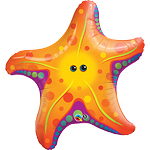 "Starfish Supershape Foil Balloon - 30"" - uninflated"