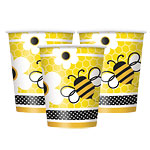 Bumble Bee Themed Party Cups - pk 8