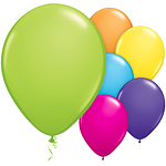 "11"" Latex Balloons - pack of 100 - Tropical Colours"