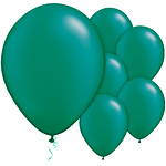 "11"" Latex Balloons - pack of 100 - Pearl Emerald Green"