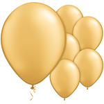 "11"" Latex Balloons - pack of 100 - Pearl Gold"