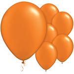 """11"""" Latex Balloons - pack of 25 - Pearl Mandarin Orange"""
