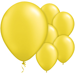 "11"" Latex Balloons - pack of 25 - Pearl Yellow"
