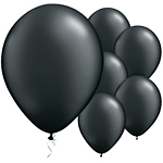 "11"" Latex Balloons - pack of 25 - Pearl Black"