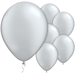 "11"" Latex Balloons - pack of 25 - Pearl Silver"