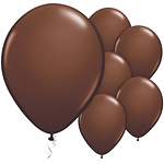 "11"" Latex Balloons - pack of 25 - Chocolate Brown"