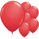 "11"" Latex Balloons - pack of 8 - Standard Red"