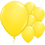 "11"" Latex Balloons - pack of 8 - Standard Yellow"