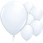 "11"" Latex Balloons - pack of 8 - Standard White"