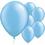 "11"" Latex Balloons - pack of 8 - Light Blue"