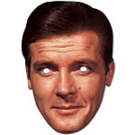 Roger Moore 007 James Bond Celebrity Mask