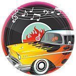 Rock n Roll Paper Plates - pack of 8