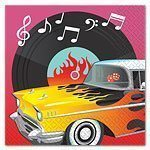 Rock n Roll Paper Napkins - pack of 16