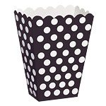 Black Polka Dot Treat Boxes - pack of 8