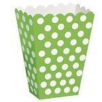 Green Polka Dot Treat Boxes - pack of 8