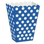 Blue Polka Dot Treat Boxes - pack of 8