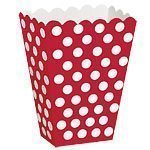 Red Polka Dot Treat Boxes - pack of 8