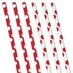 Red Polka Dot Paper Straws - pack of 10