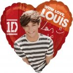 One Direction Louis Tomlinson Helium Foil Balloon - each