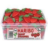 Haribo Giant Strawbs Tub - Pack of 120