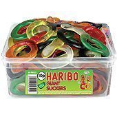 Haribo Giant Suckers Tub of Sweets - pack of 60