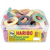Haribo Sour Suckers Tub - pack of 60