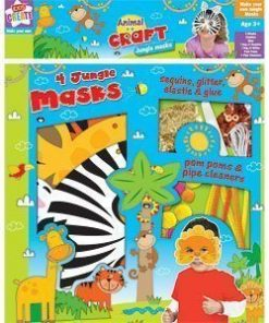 Make Your Own Jungle Masks - pack of 4