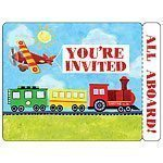 On The Go Party Invites - pack of 8