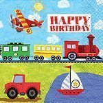 On The Go Happy Birthday Napkins - pack of 16