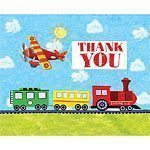 On The Go Party Thank You Cards - pack of 8