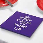 Keep Calm & Wipe Up Paper Plates, pack of 20