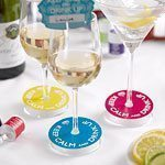Keep Calm & Party On Wine Glass Labels, pack of 10