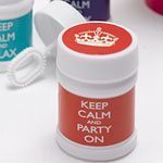 Keep Calm & Party On Bubbles - pack of 6