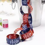 Keep Calm & Party On Paper Chains, red & Blue - 3 metres