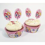 Disney Princess Sparkle Cupcake Kit - pack of 48