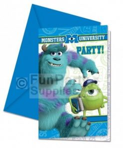 Monster Inc University Party Invitations, pack of 8