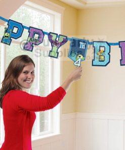 Monsters University Happy Birthday Banner